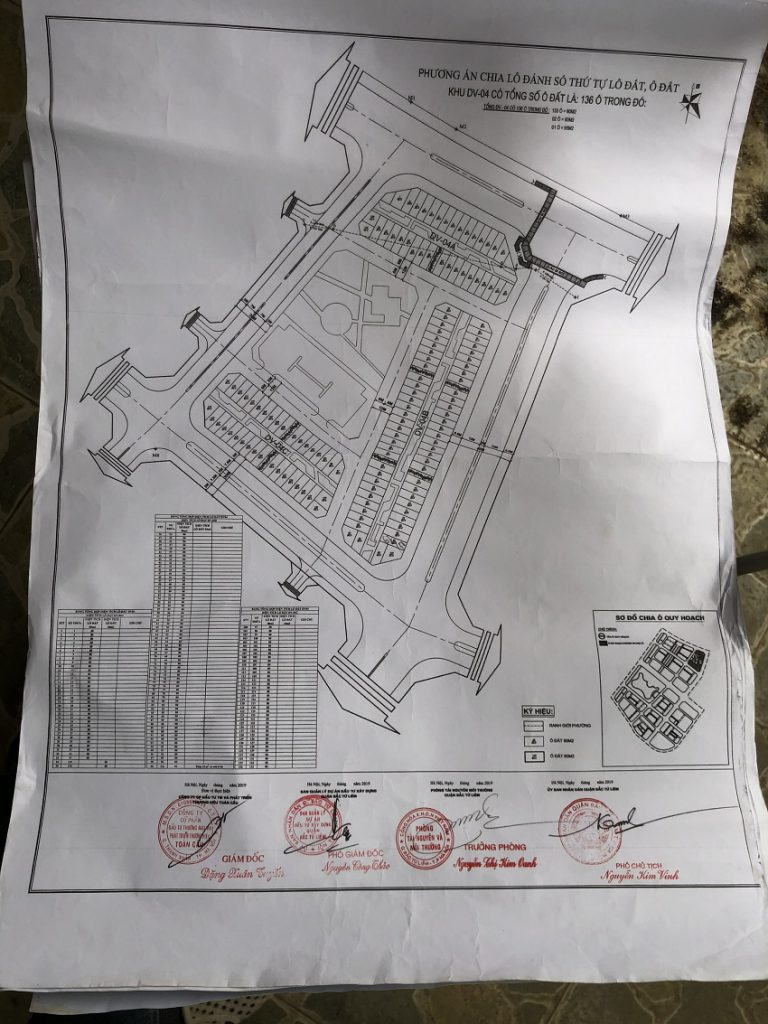Quy hoạch đất dịch vụ Tây Tựu