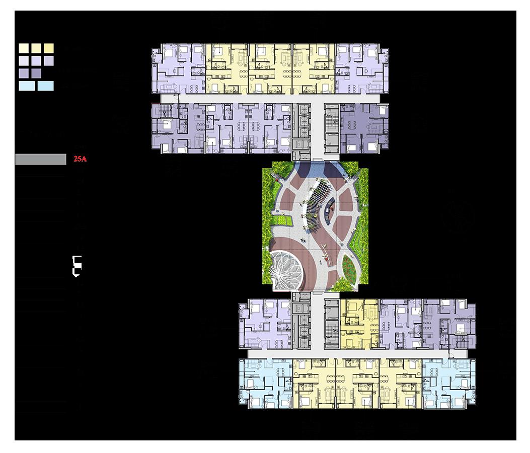 Mặt bằng điển hình căn hộ Florence Mỹ Đình tầng 23-24