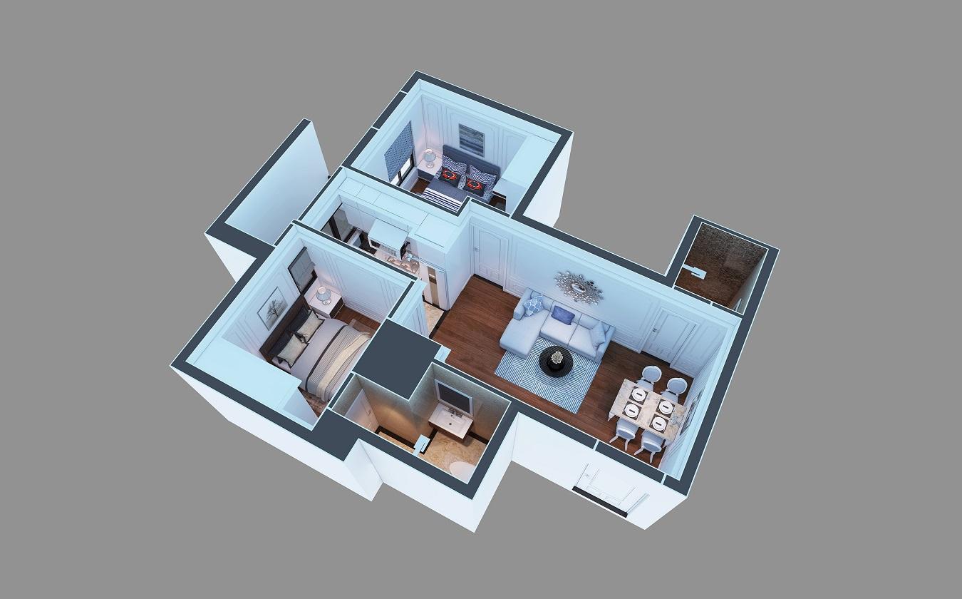 Hình ảnh căn hộ dự án chung cư ruby city ct3