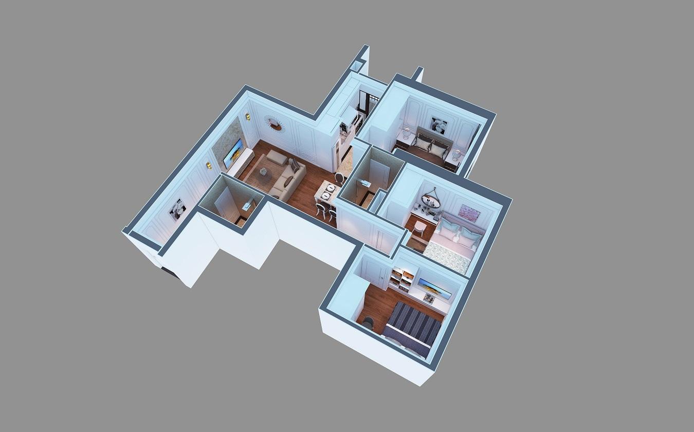 Hình ảnh thiết kế căn hộ