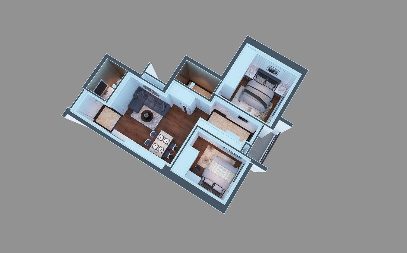 Thiết kế căn hộ dự án chung cư ruby city ct3