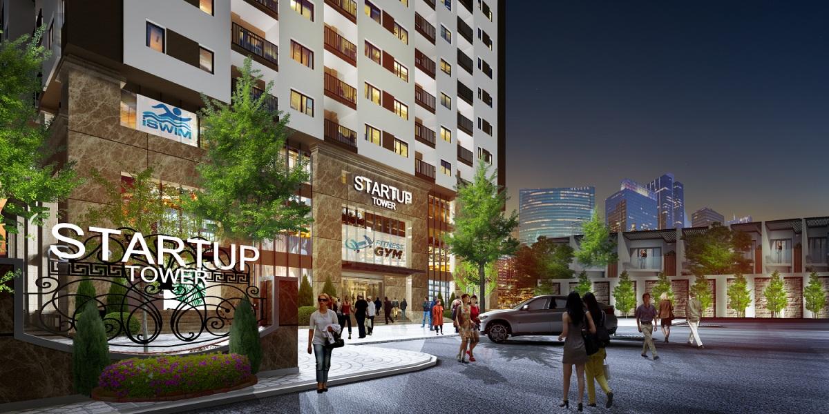 Cổng chào tại Chung cư Startup Tower