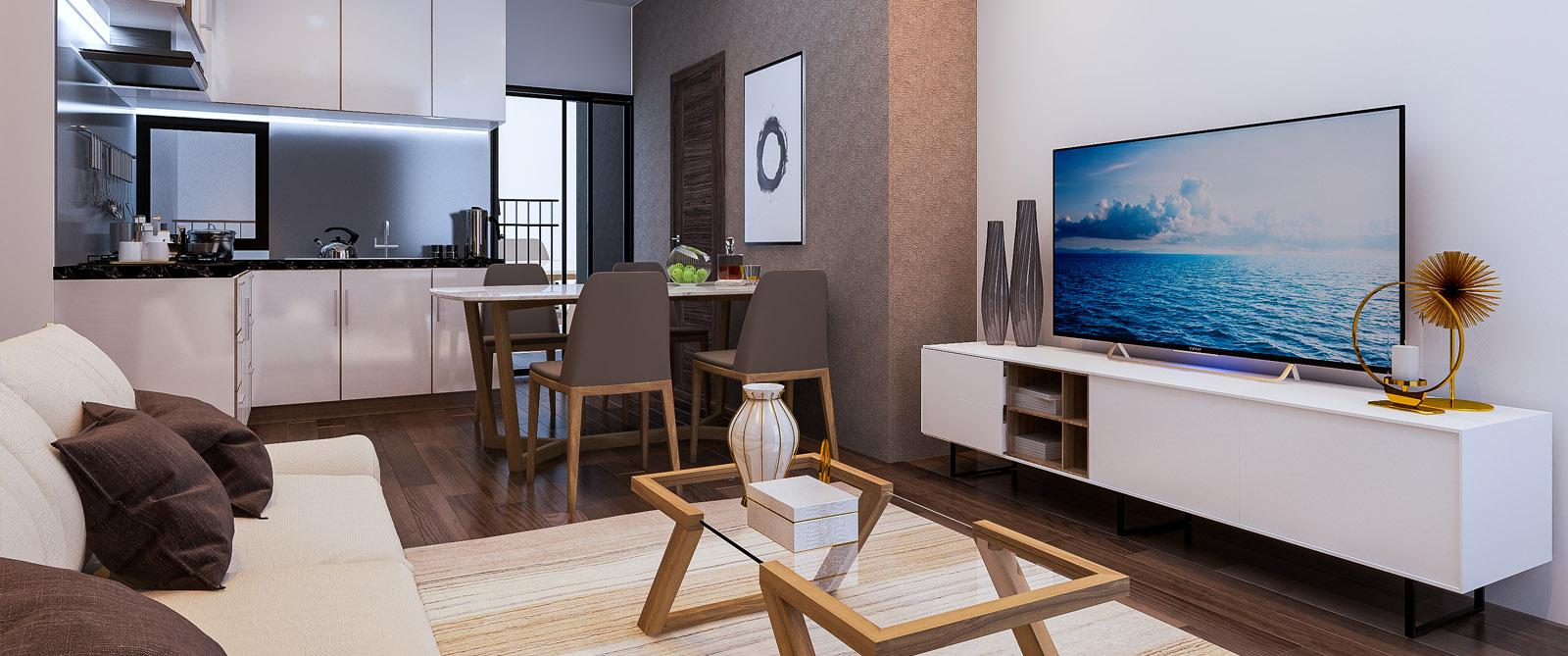 Nội thất phòng khách Startup Tower