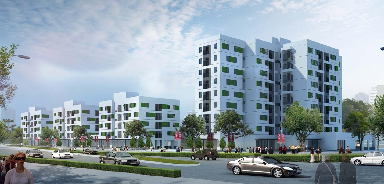 Phối cảnh tổng quan dự án New Space Giang Biên
