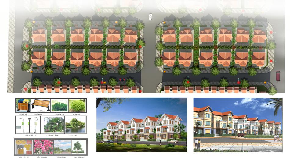 Phối cảnh tổng thể 1 Khu nhà ở Minh Đức – huyện Mê Linh