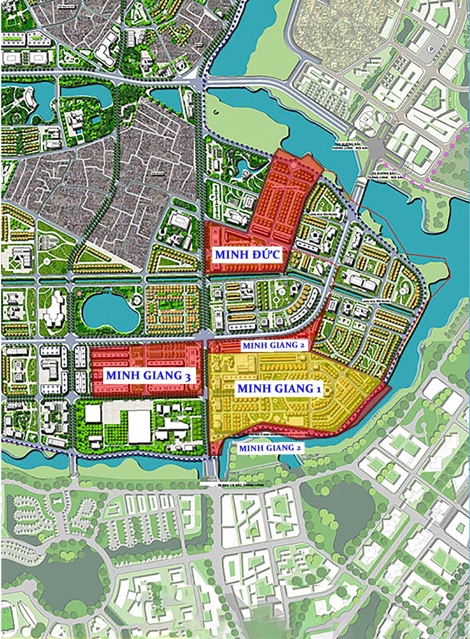 quy hoạch khu vực dự án khu đô thị Minh Đức