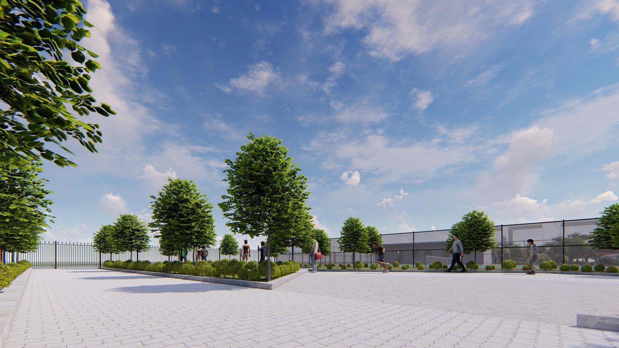 Hạ tầng cây xanh Khu đô thị Minh Đức – Mê Linh