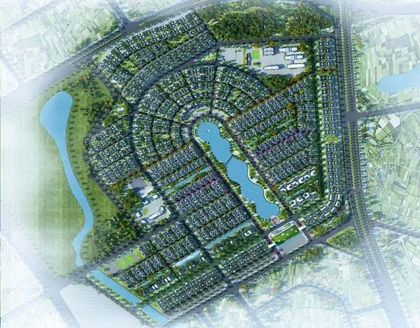Phối cảnh quy hoạch khu đô thị vườn cam