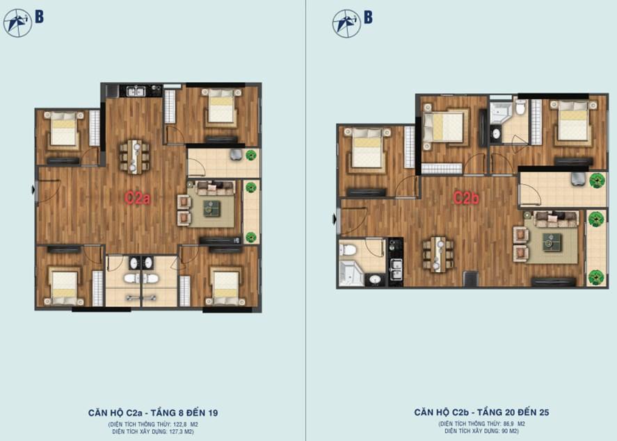Thiết kế căn C2a - C2b