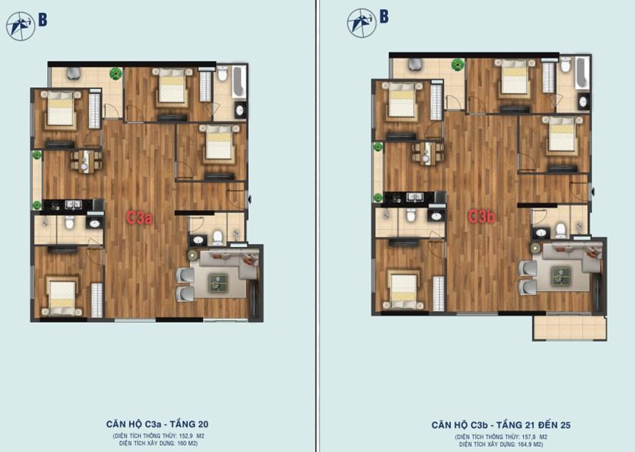Thiết kế căn C3a - C3b