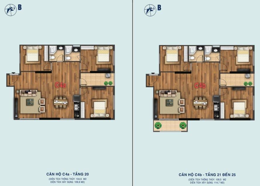 Thiết kế căn C4a - C4b