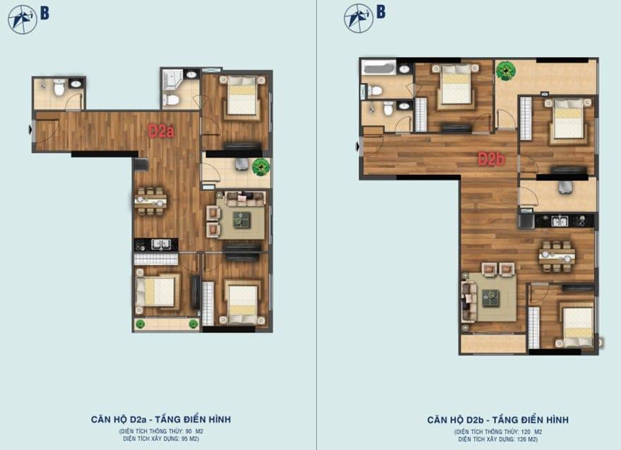 Thiết kế căn D2a - D2b