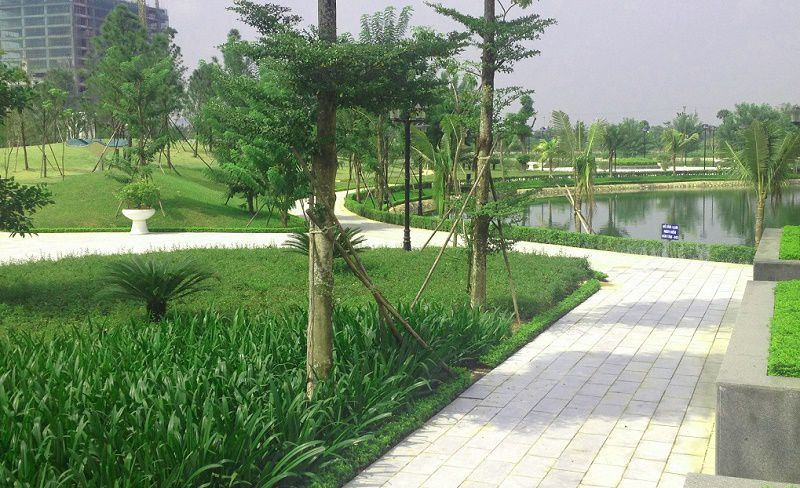 Khu công viên cây xanh khu đô thị Ngoại Giao Đoàn