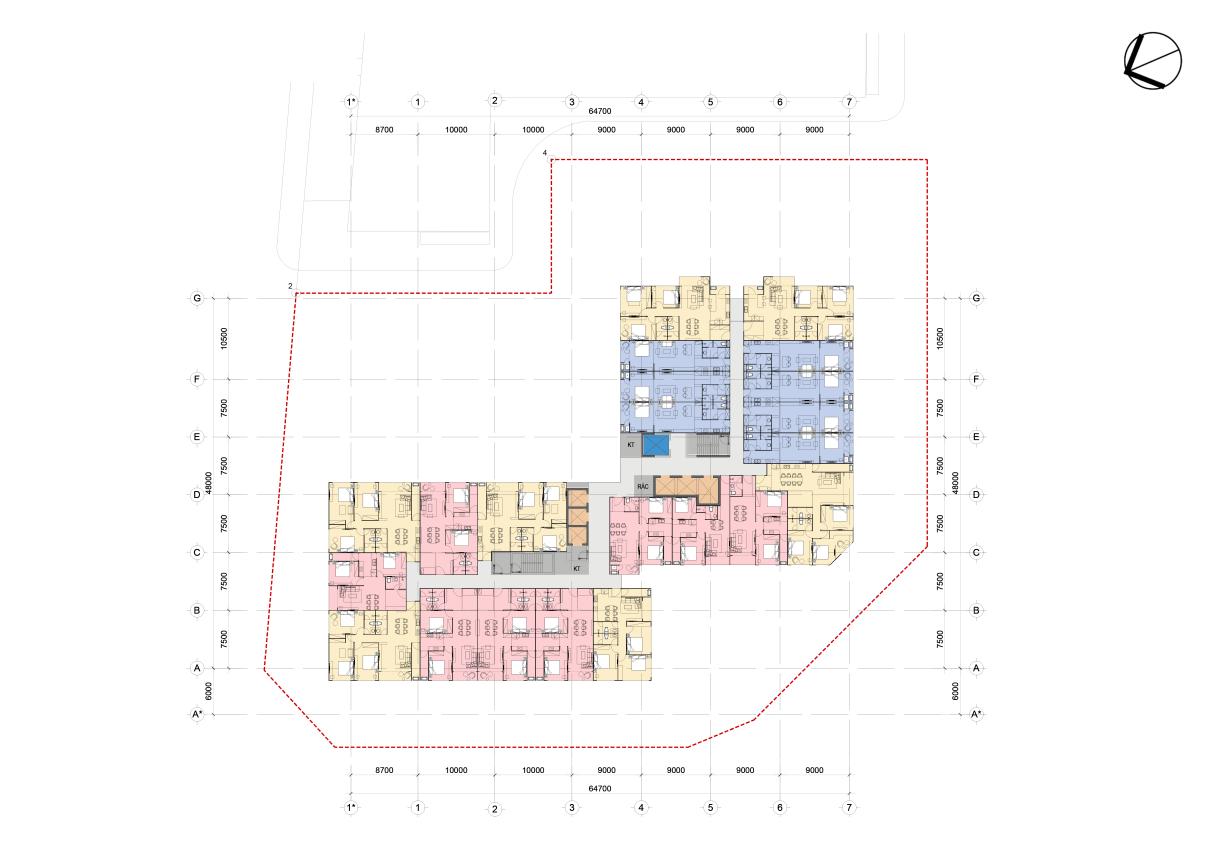 Mặt bằng thiết kế tầng 4 - 25 chung cư Green Diamond Hồ Tây
