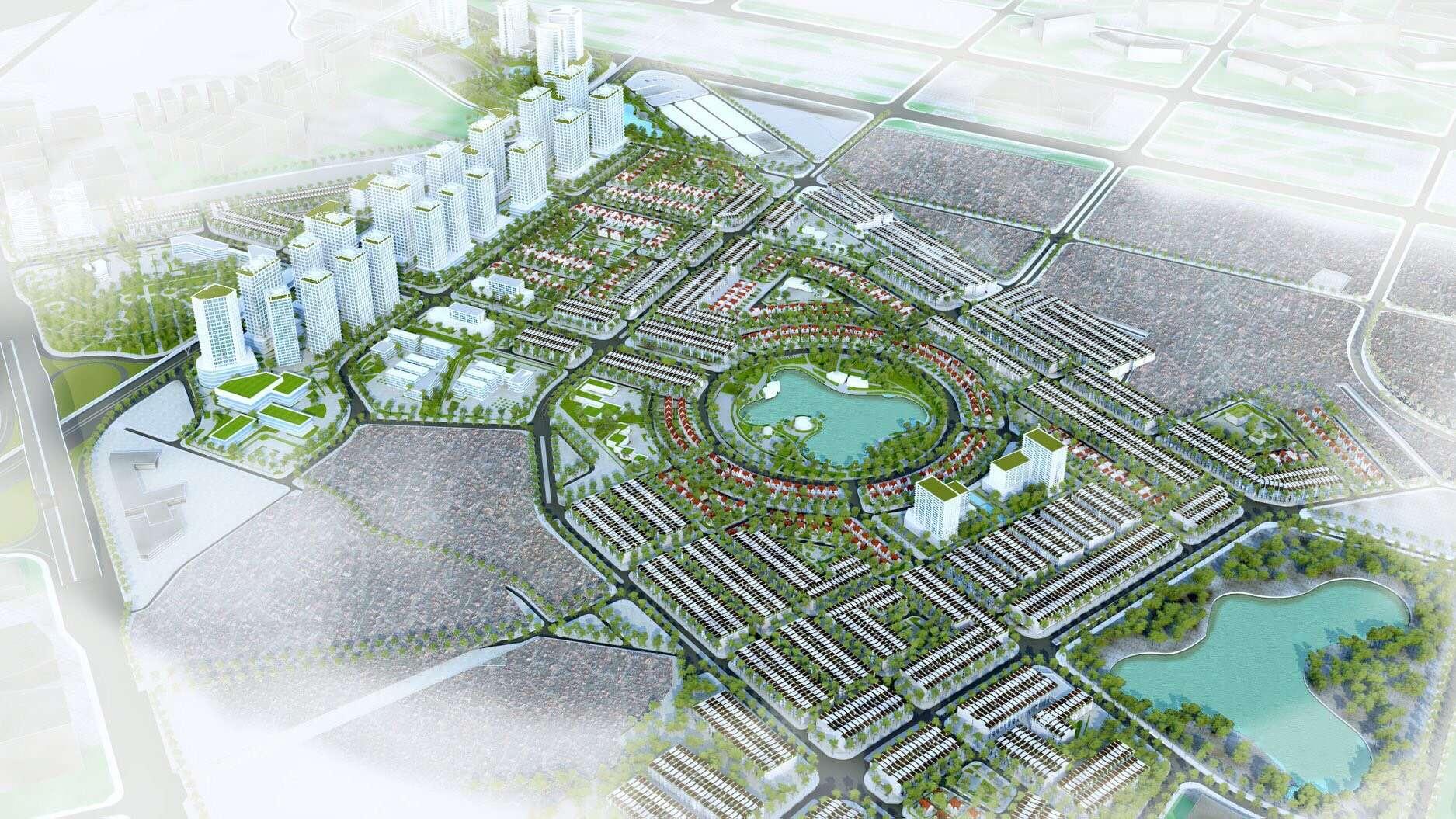 Phối cảnh quy hoạch Hinode Royal Park Hà Nội
