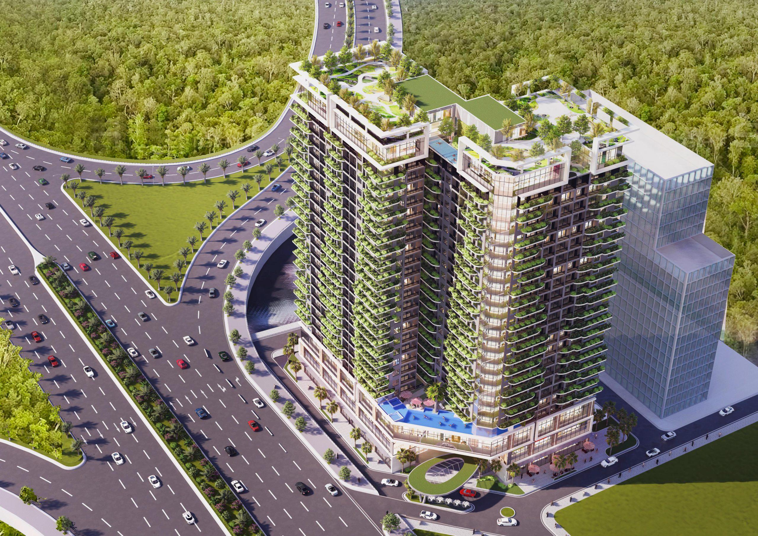 Phối cảnh dự án Green Diamond Tây Hồ