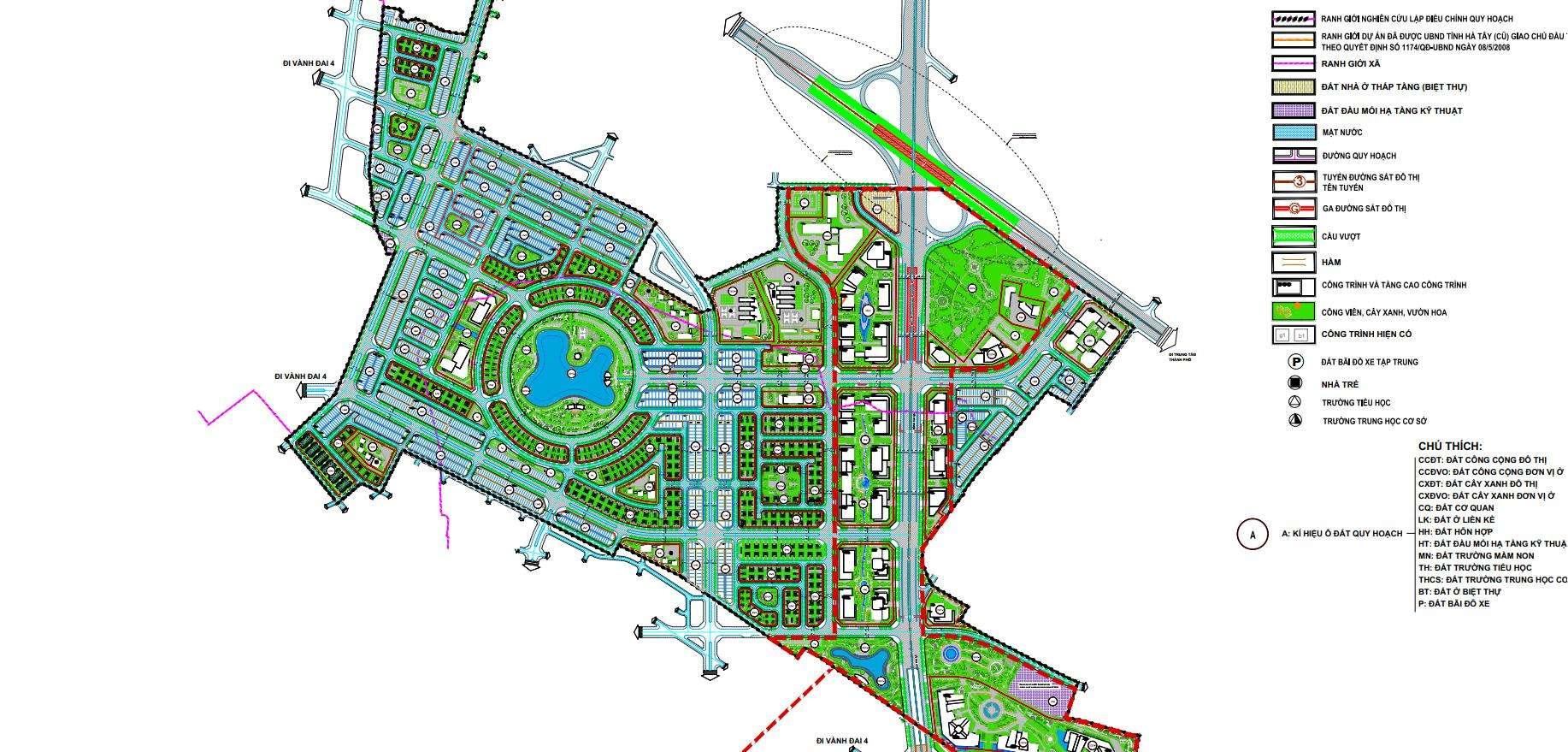 Quy hoạch tổng thể Hinode Royal Park Hà Nội