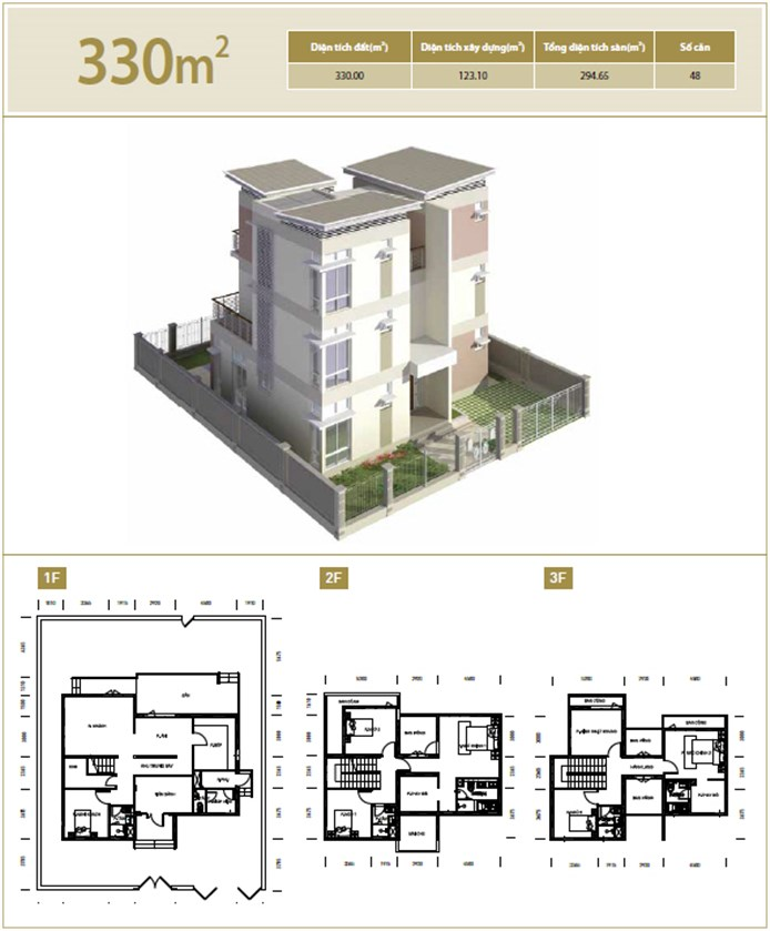 Biệt thự diện tích 330 m2