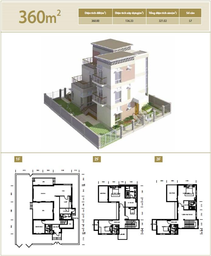Biệt thự diện tích 360 m2