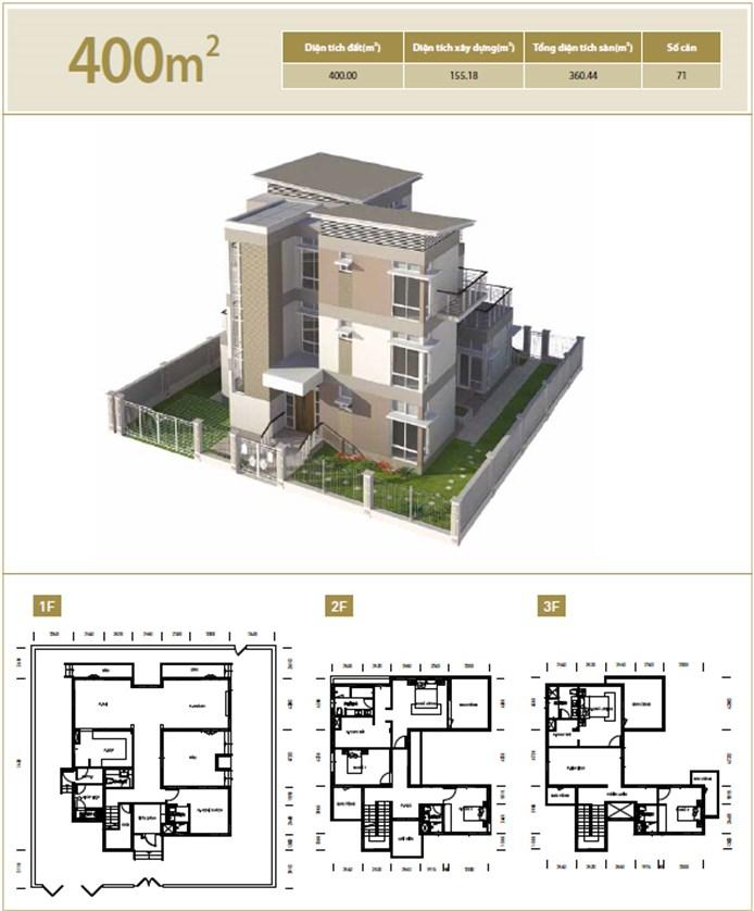 Biệt thự diện tích 400 m2