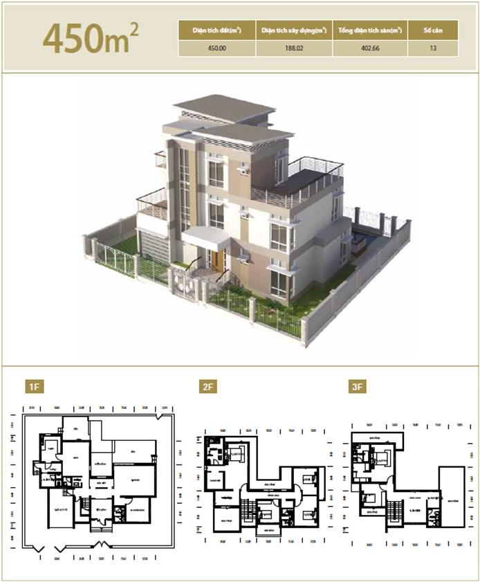 Biệt thự diện tích 450 m2