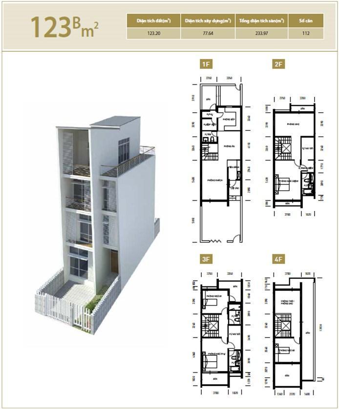Căn hộ B 123 m2