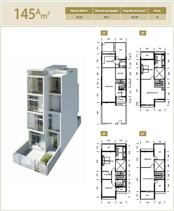 Căn hộ A 145 m2