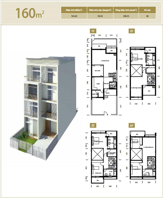 Căn hộ 160 m2 Liền kề biệt thự Bắc An Khánh