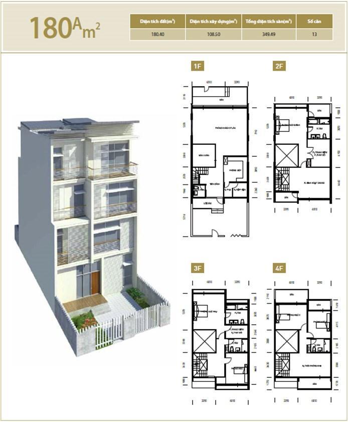 Căn hộ A 180 m2