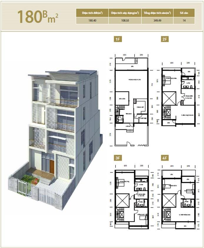 Căn hộ B 180 m2 Liền kề biệt thự Bắc An Khánh