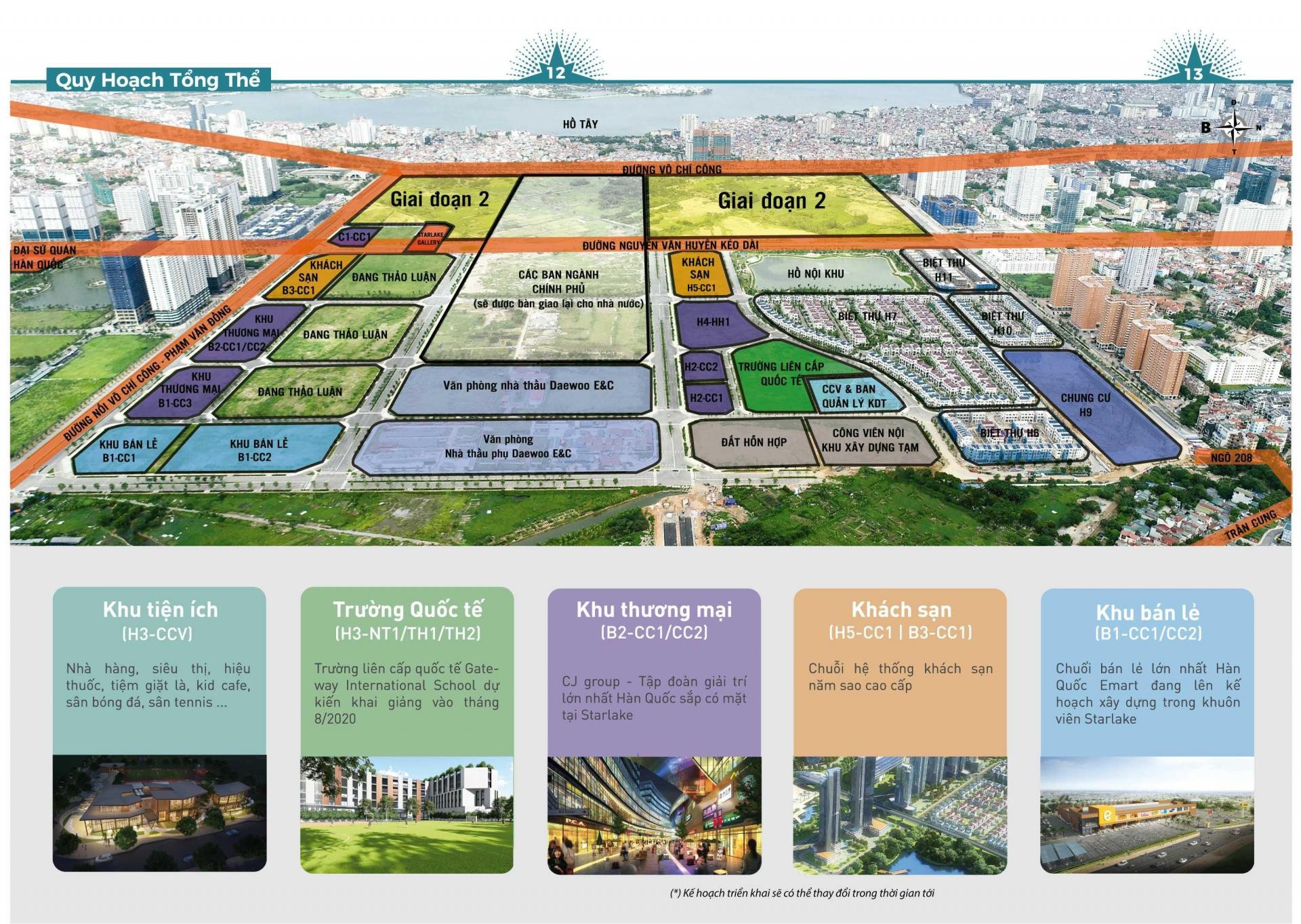 Quy hoạch dự án Starlake Tây Hồ Tây
