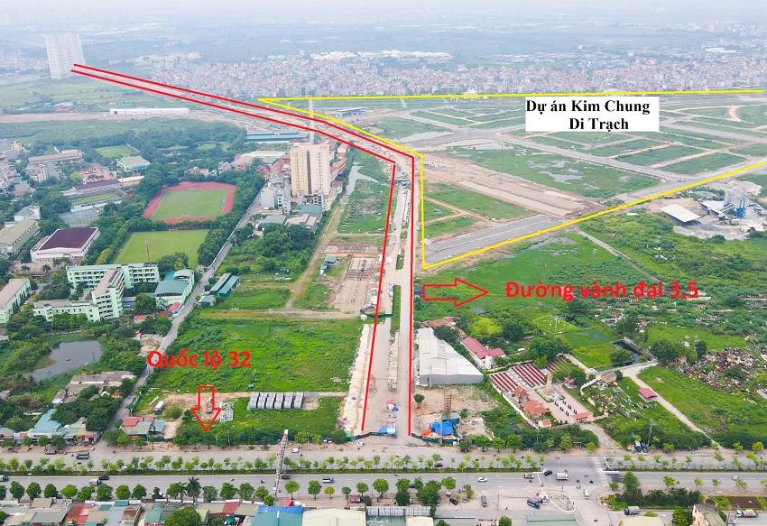 Đường vành đai 3.5 chạy qua dự án Kim Chung Di Trạch