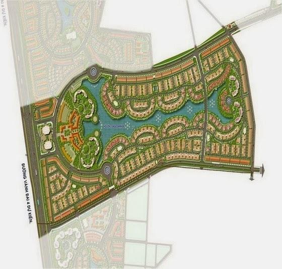 Mặt bằng tổng thể Dự án Nam An Khánh khu A giai đoạn 2 (106 ha)