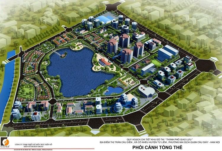 Phối cảnh tổng thể Khu đô thị Thành Phố Giao Lưu
