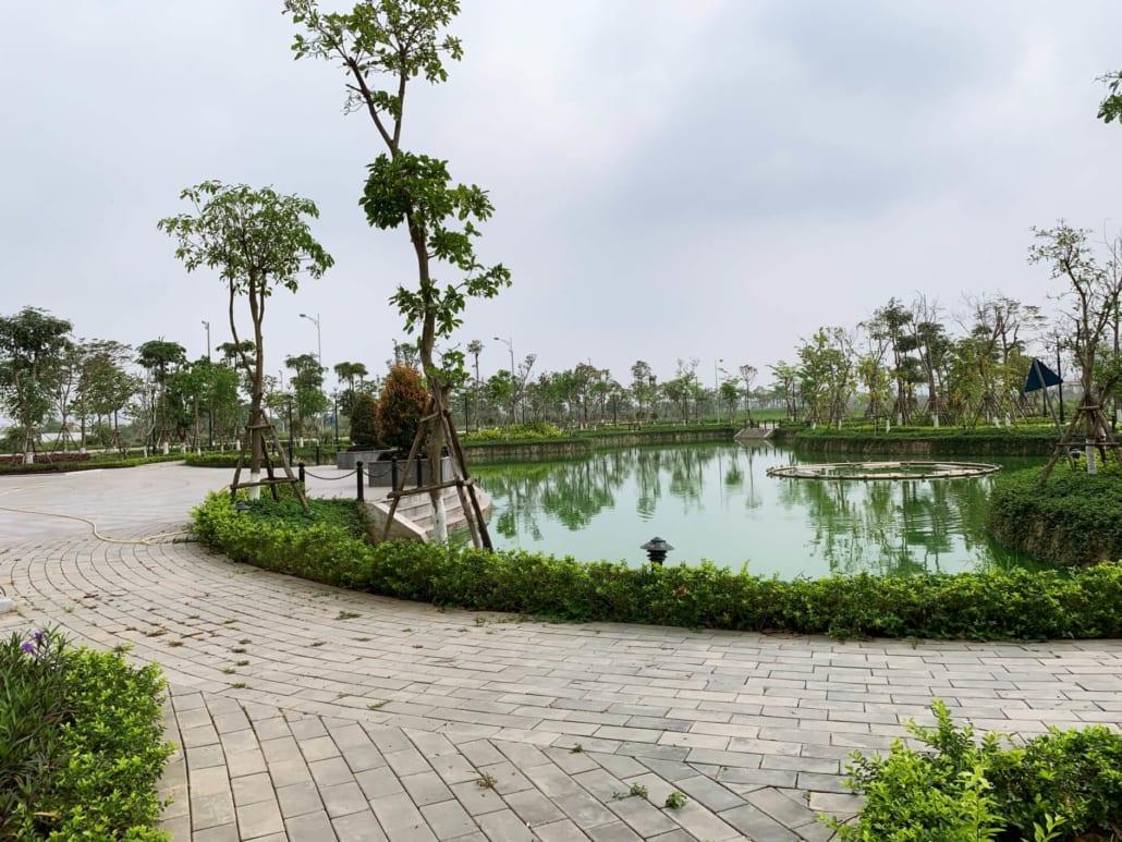 Hồ điều hòa An Lạc Green Symphony khu đô thị Vân Canh