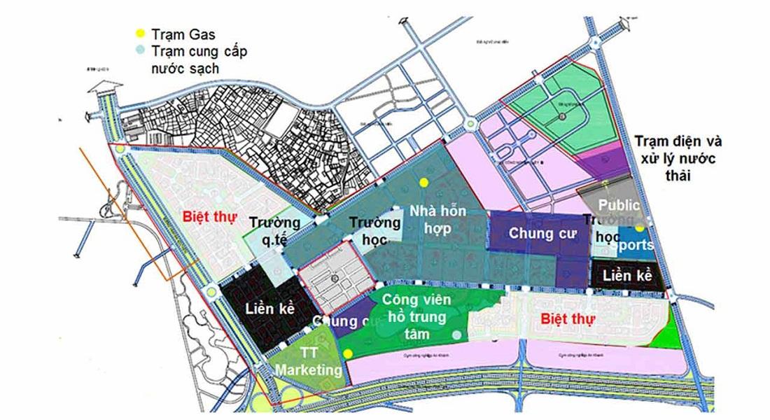 Quy hoạch Liền kề biệt thự Bắc An Khánh