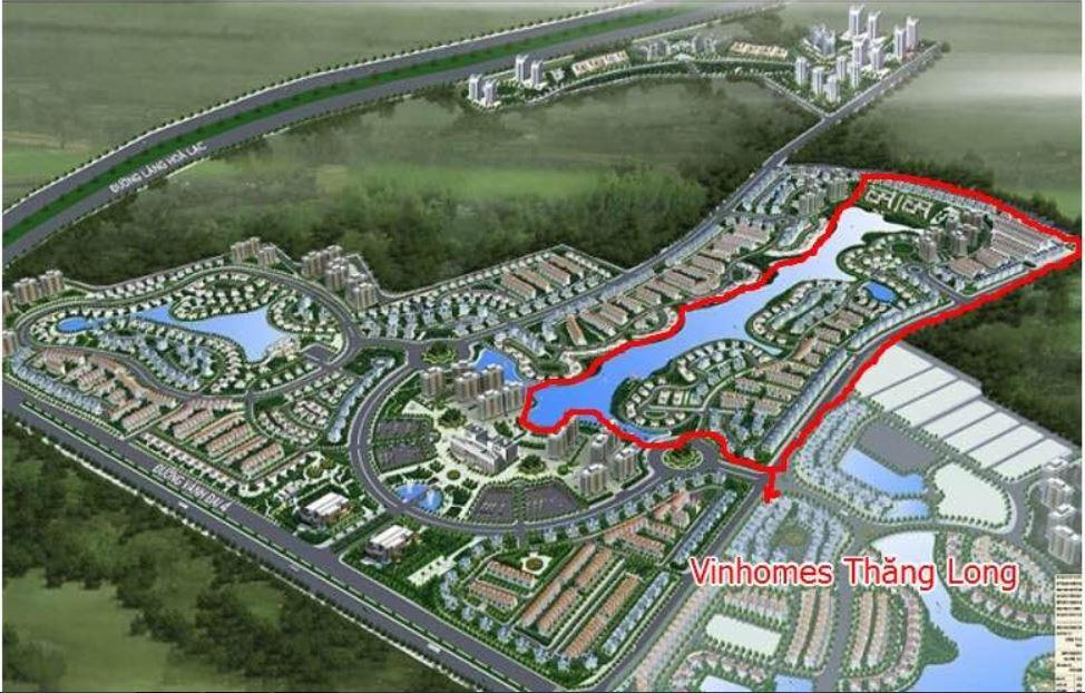 Dự án Nam An Khánh với Phân khu Vinhomes (Vinhomes Thăng Long) 24ha