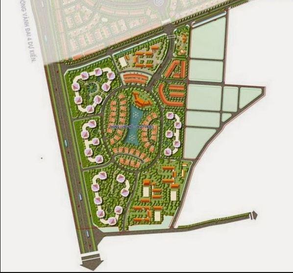 Mặt bằng tổng thể Dự án Nam An Khánh Khu B (Khu mở rộng)