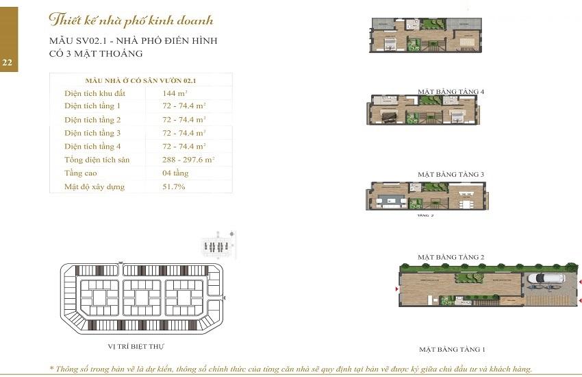 Mẫu Shophouse Embassy Garden SV02.1