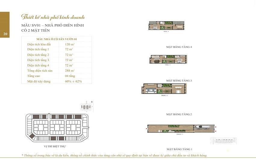 Mẫu Shophouse Embassy Garden SV01