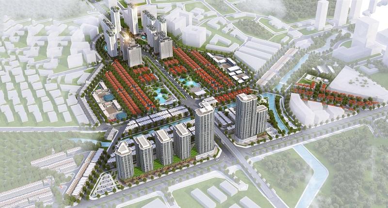 Phối cảnh Khu đô thị Đại học Vân Canh