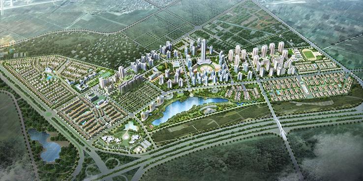 Toàn cảnh khu đô thị mới Bắc An Khánh