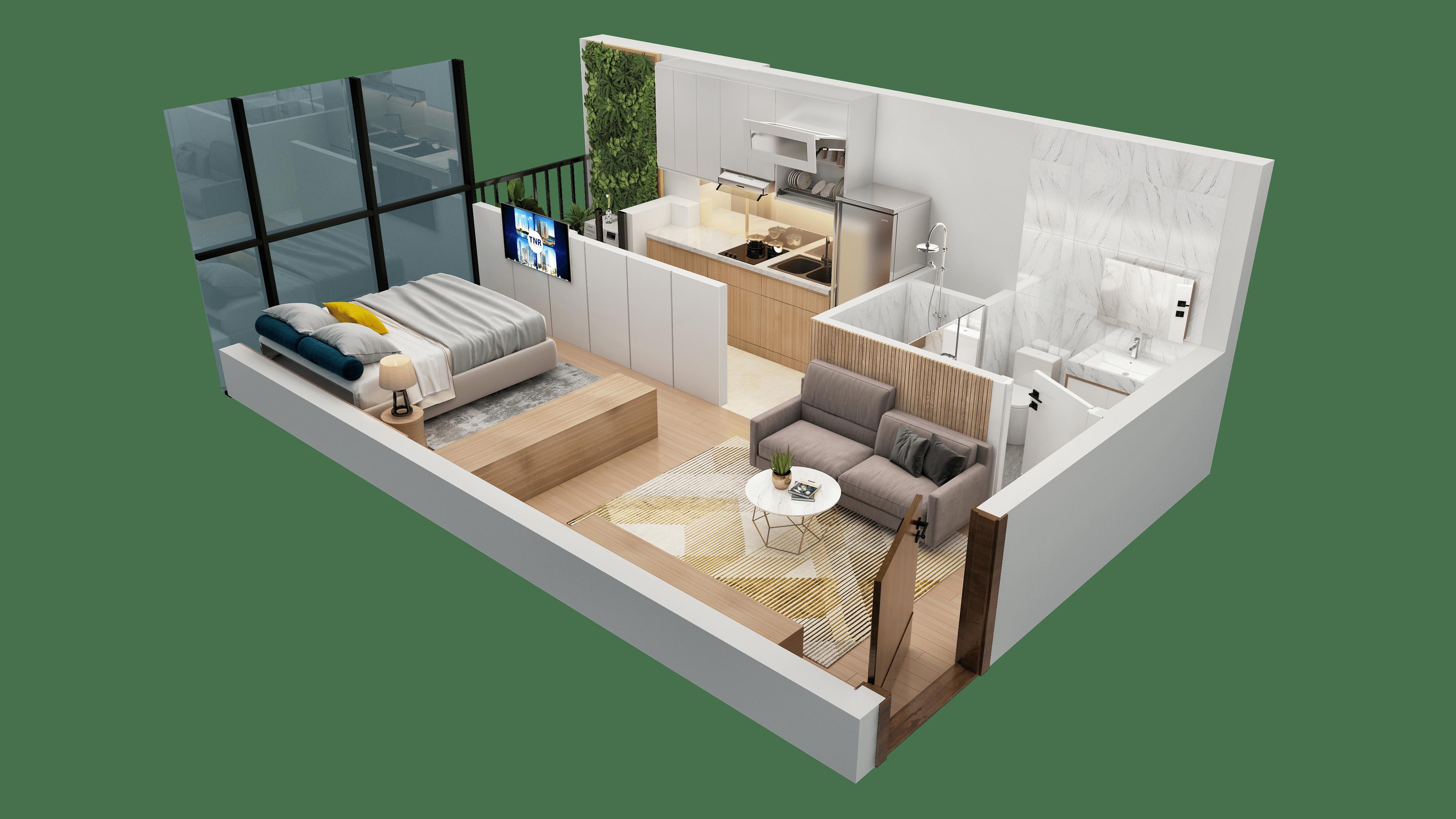 Thiết kế căn hộ 03 chung cư tnr the nosta