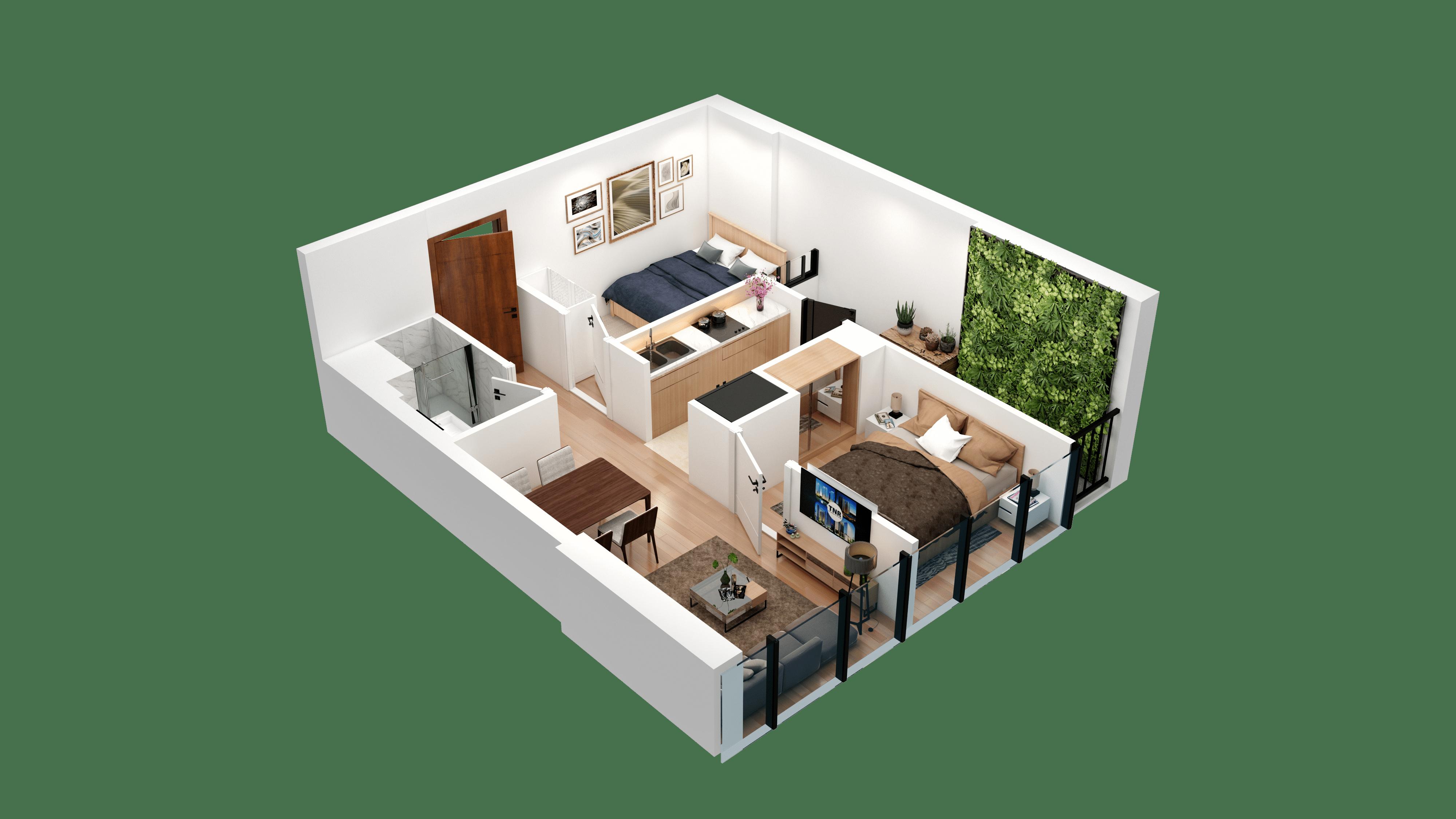 Thiết kế căn hộ 04 chung cư tnr the nosta