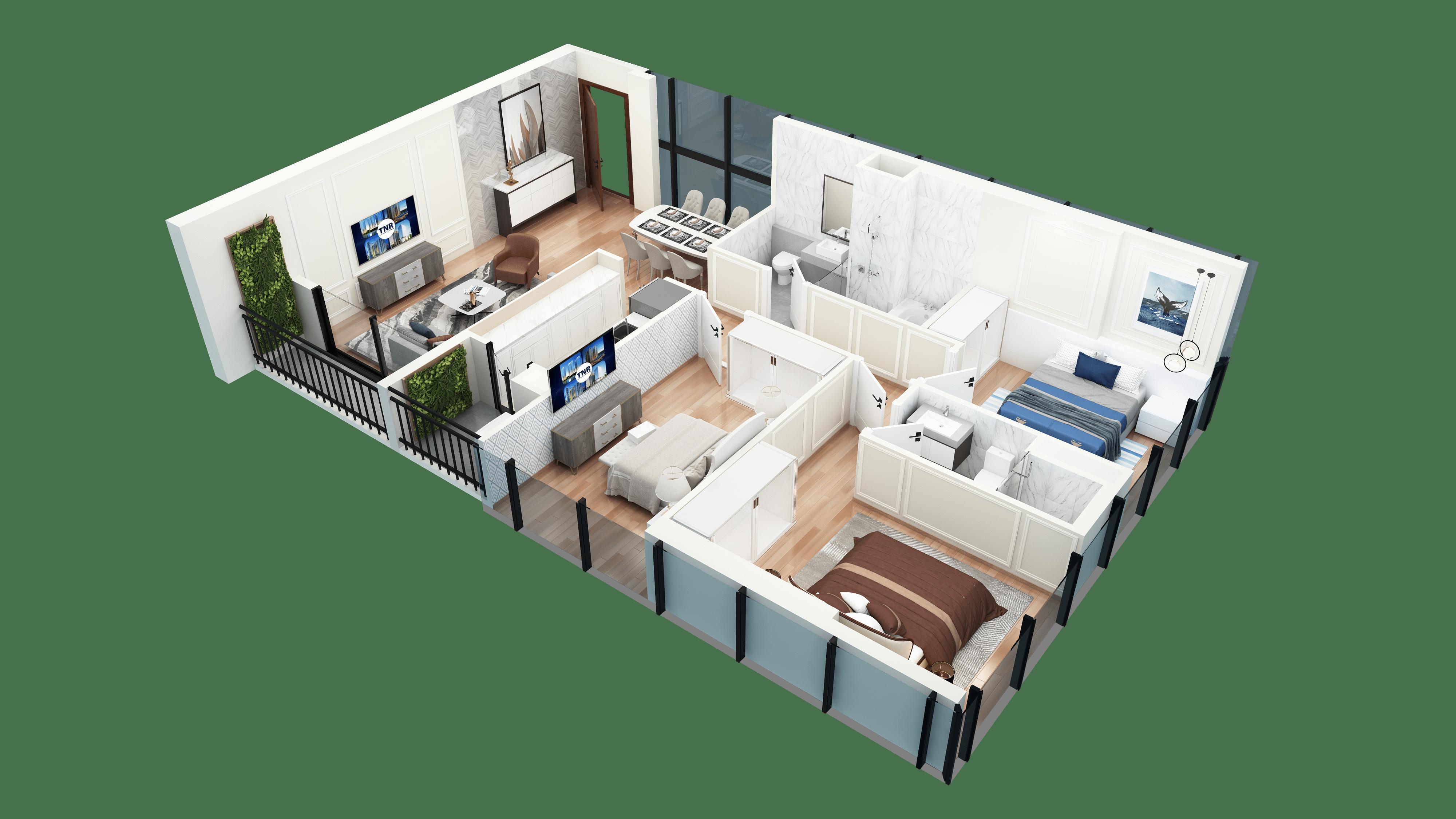 Thiết kế căn hộ 11 chung cư tnr the nosta