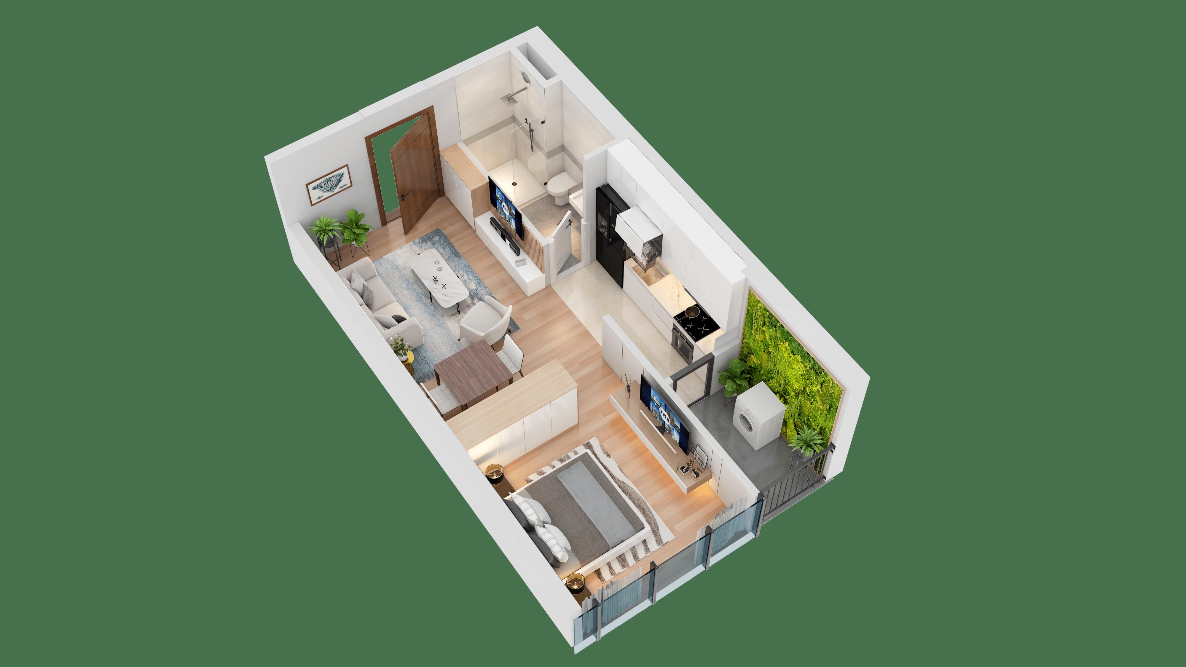 Thiết kế căn hộ 07 chung cư tnr the nosta
