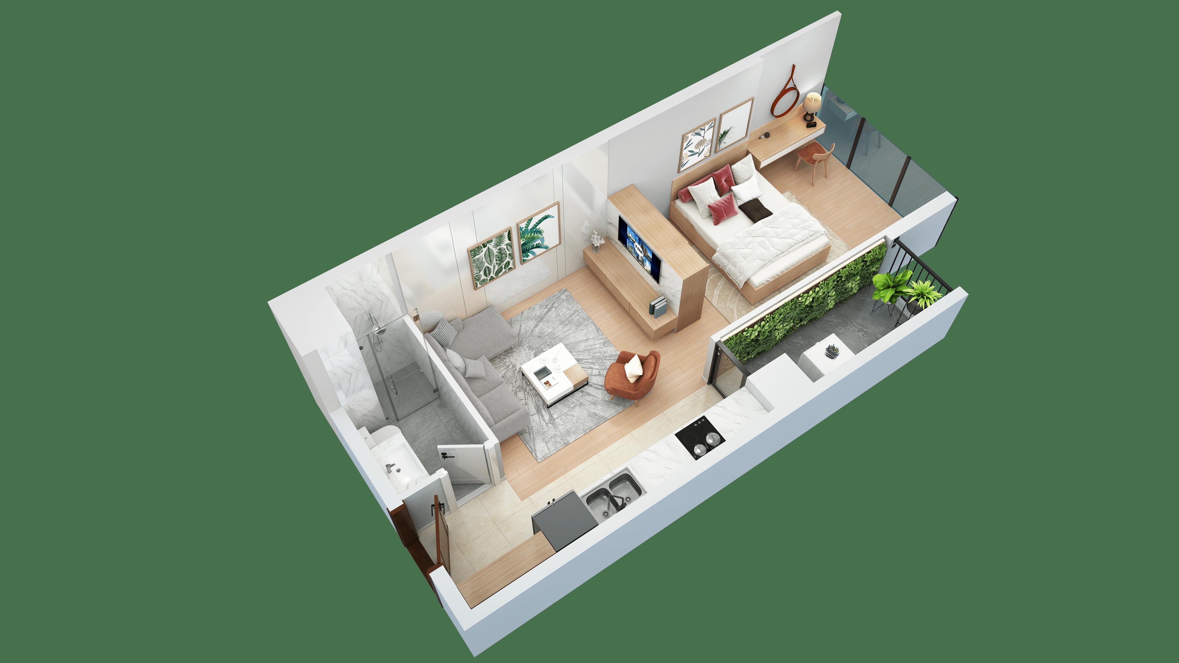 Thiết kế căn hộ 08 chung cư tnr the nosta