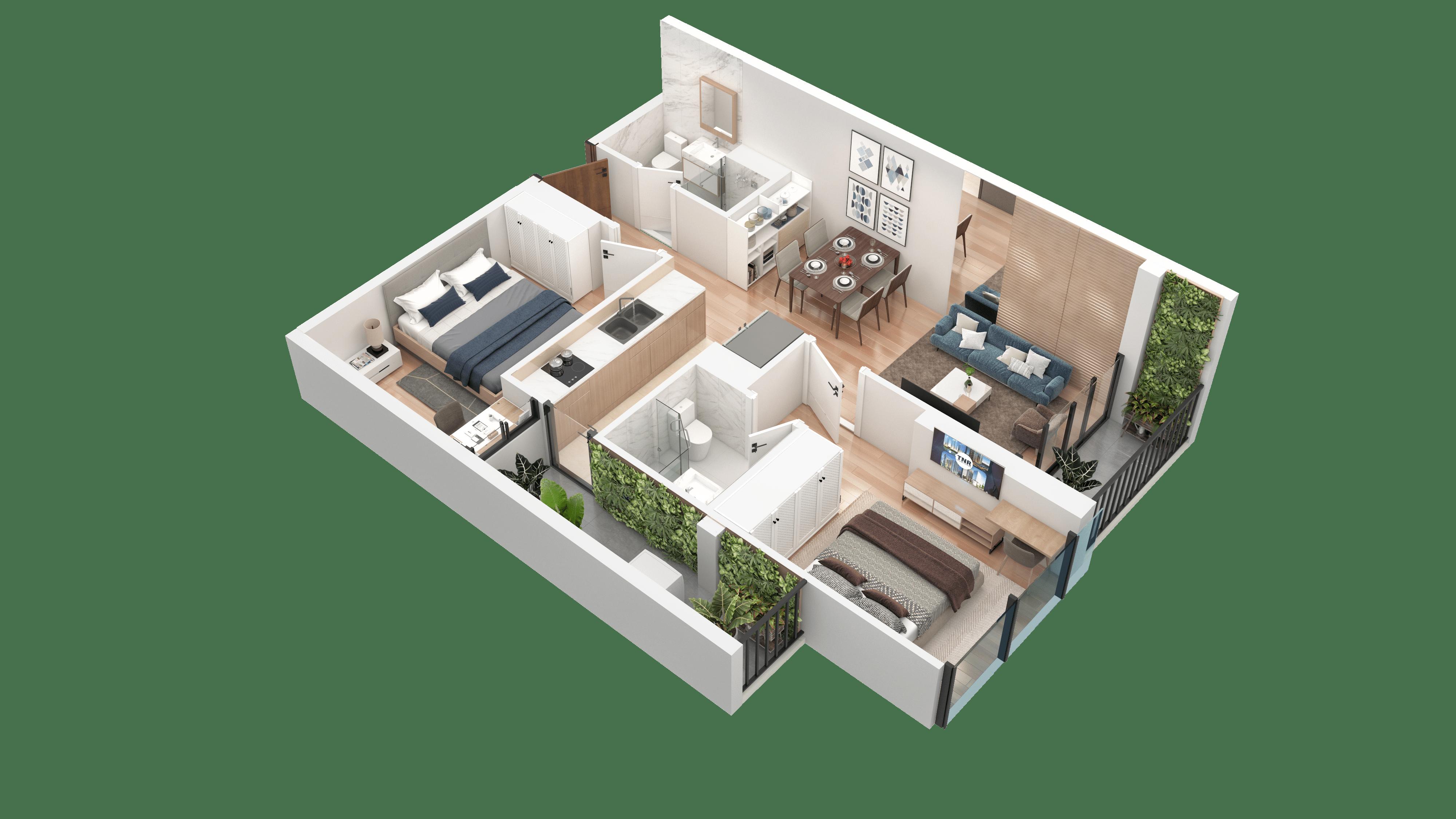 Thiết kế căn hộ 10 chung cư tnr the nosta