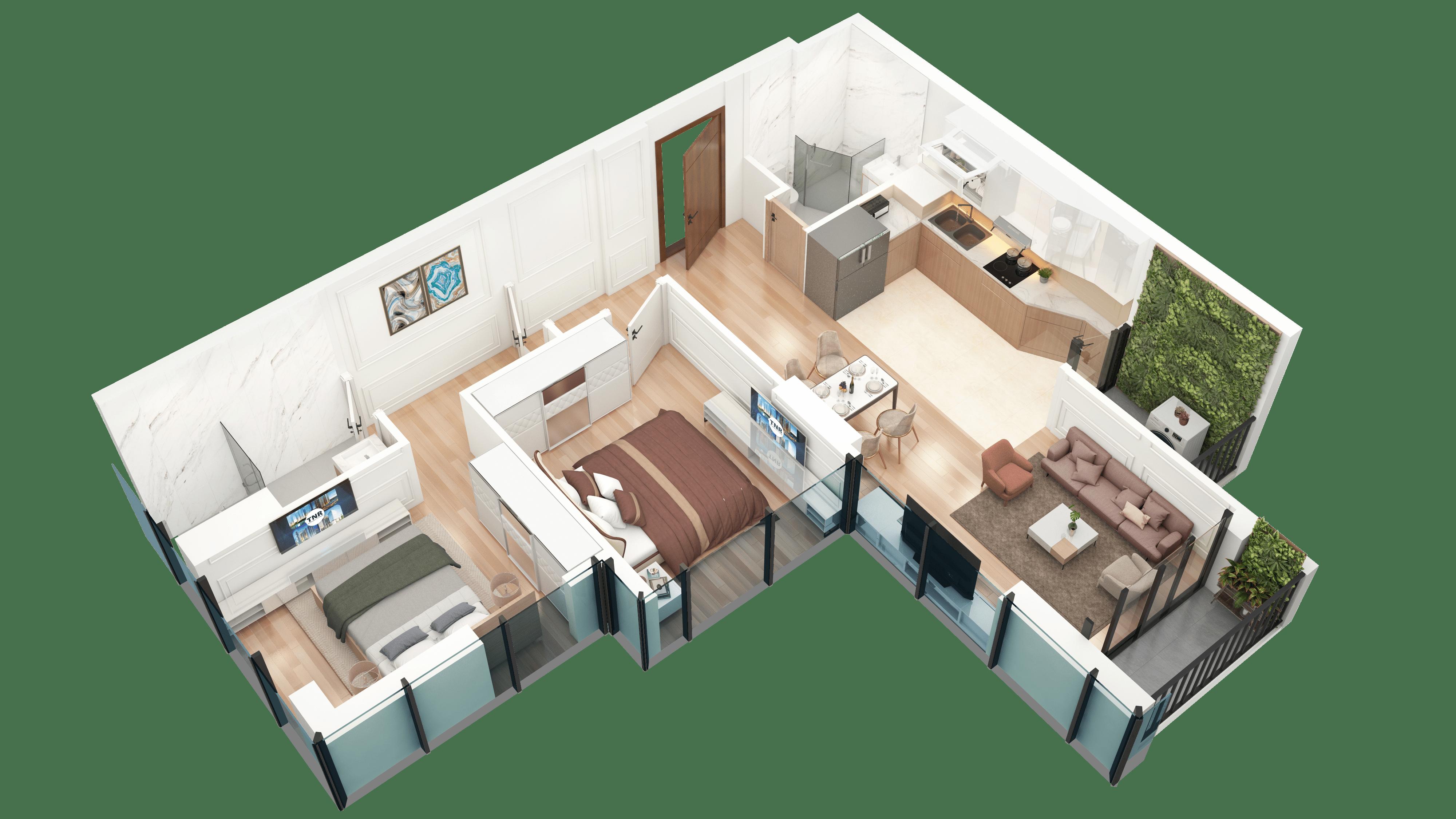 Thiết kế căn hộ 13 chung cư tnr the nosta