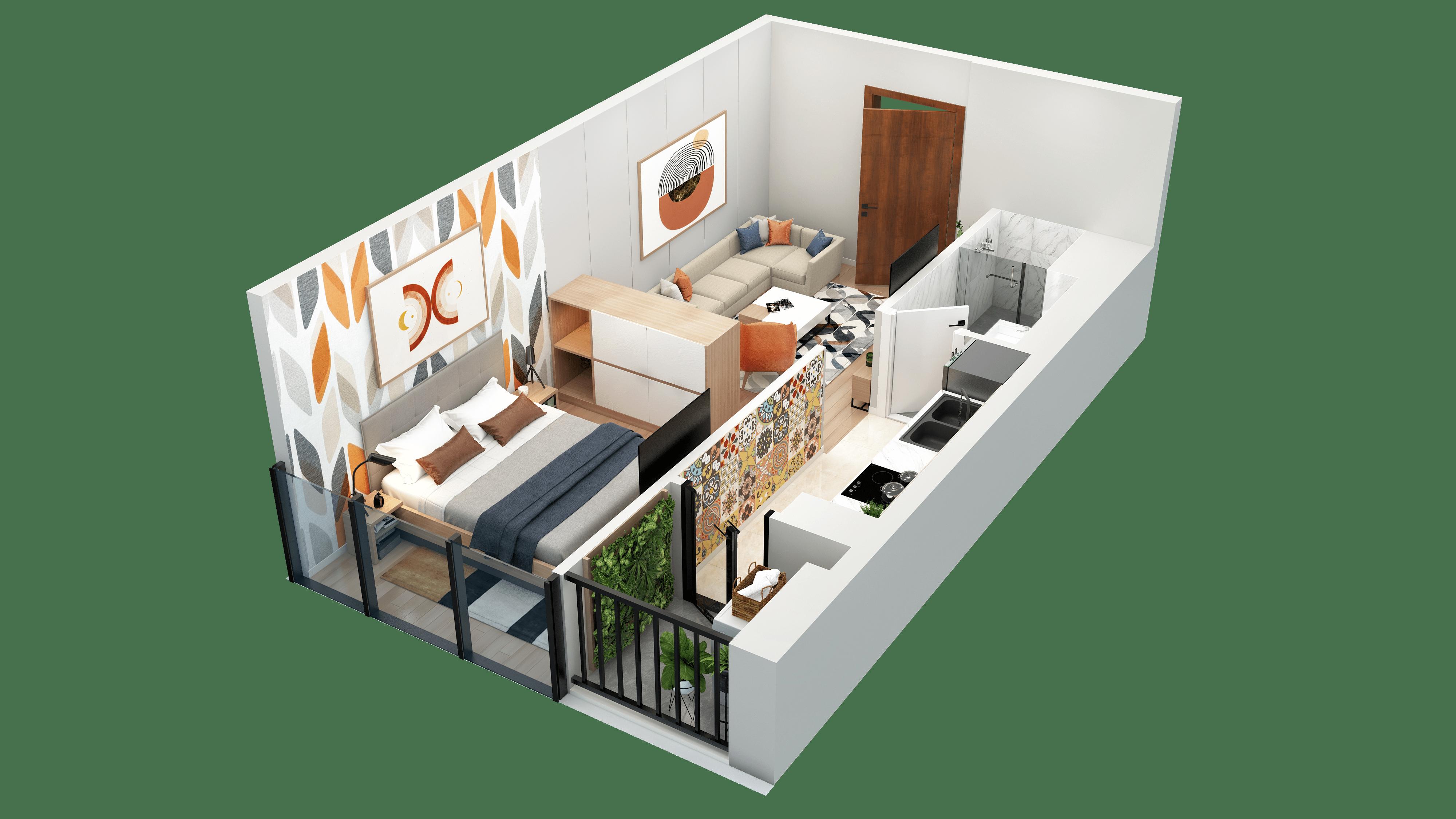 Thiết kế căn hộ 14 chung cư tnr the nosta